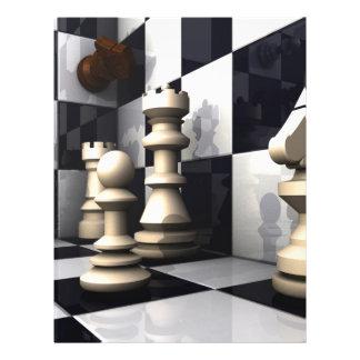 Style de jeu d'échecs prospectus 21,6 cm x 24,94 cm
