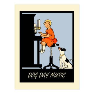 Style de musique de canicule rétro cartes postales