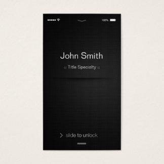 style d'IOS d'iPhone - noir et blanc générique Cartes De Visite
