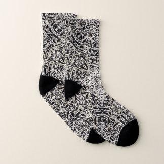 Style ethnique G419 de Mehndi de chaussettes