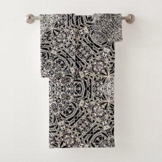 Style ethnique réglé G419 de Mehndi de serviette