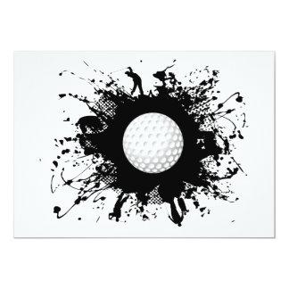 Style urbain de golf carton d'invitation  12,7 cm x 17,78 cm