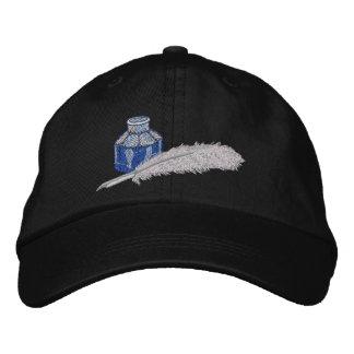 Stylo victorien d'encre et de cannette casquette brodée