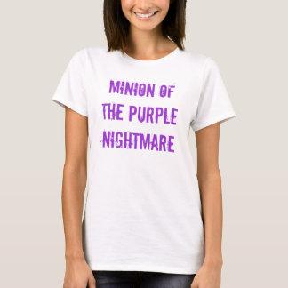 Subordonné du T-shirt de cauchemar de Pruple