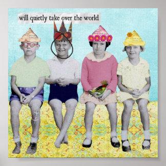Succédez la rétro affiche humoristique du monde