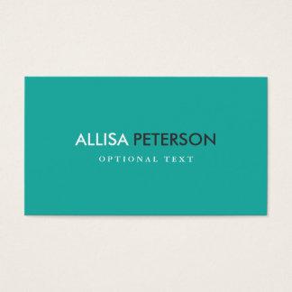 Succès blanc turquoise chic d'élégance dans cartes de visite