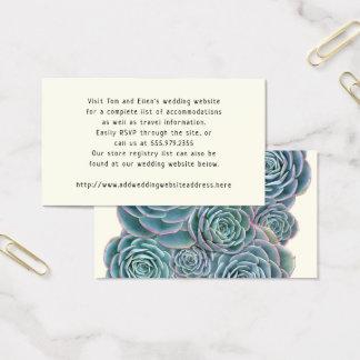 Succulents bleus épousant des cartes de clôture en