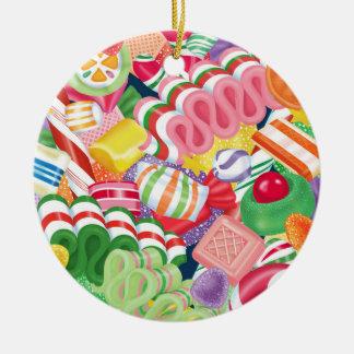 Sucrerie de Noël Ornement Rond En Céramique