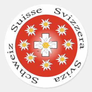 Suisse de Suisse Svizzera Svizra autocollant