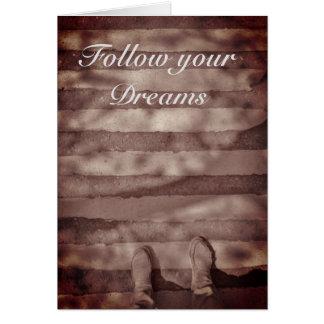 Suivez votre carte inspirée de rêves
