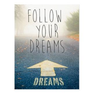 Suivez votre carte postale inspirée de rêves
