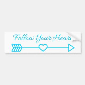Suivez votre coeur autocollant de voiture