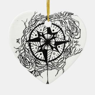 Suivez votre flèche ornement cœur en céramique