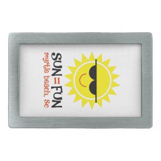 Sun = amusement boucle de ceinture rectangulaire