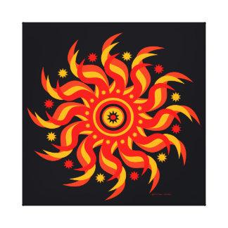 """""""Sun de minuit"""" a enveloppé la copie de toile"""