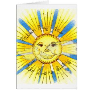 Sun en nuages - cartes de voeux (blanches)