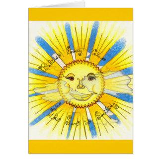 Sun en nuages - merci cartes pour notes (jaune