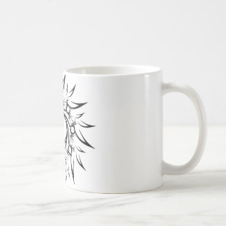 Sun tribal mug blanc
