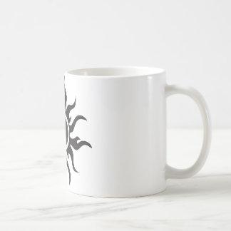 Sun tribal noir mug blanc