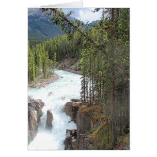 Sunwapta Falls, Alberta, Canada Carte