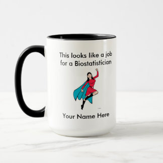 Super héros de femelle de Biostatistician Mug