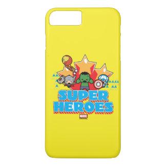 Superhéros de vengeur de Kawaii graphiques Coque iPhone 8 Plus/7 Plus