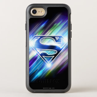Superman a stylisé le logo brillant d'éclat de coque OtterBox symmetry iPhone 8/7
