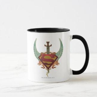 Superman a stylisé le logo d'ailes de | mug