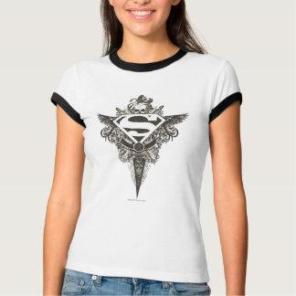 Superman a stylisé le logo de blanc d'étoile et de t-shirt