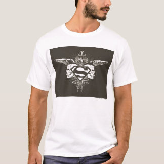 Superman a stylisé le logo de crânes d'obscurité t-shirt