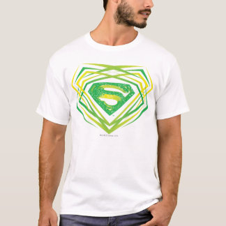 Superman a stylisé le logo décoratif vert de   t-shirt