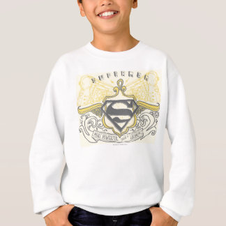 Superman a stylisé le logo dessiné jaune de trains sweatshirt