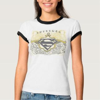 Superman a stylisé le logo dessiné jaune de trains t-shirt