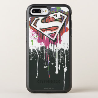 Superman a stylisé le logo d'innocence tordu par | coque otterbox symmetry pour iPhone 7 plus