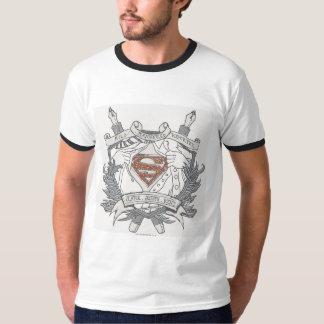 Superman a stylisé le logo doux de journaliste de t-shirt