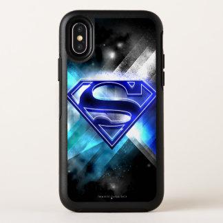 Superman a stylisé le logo en cristal blanc bleu