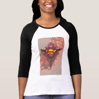Superman a stylisé le logo grunge de conception de t-shirt