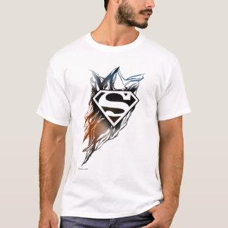 Superman a stylisé le logo orange bleu de | t-shirt