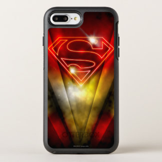 Superman a stylisé le logo rouge brillant coque otterbox symmetry pour iPhone 7 plus