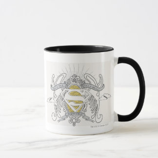 Superman a stylisé | un oiseau, un logo plat mug
