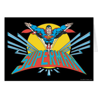 Carte de vœux Superman