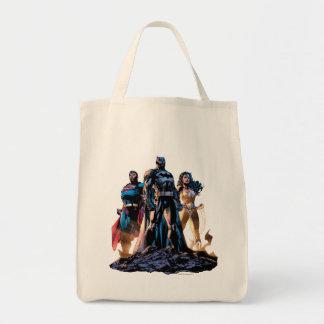Superman, Batman, et trinité de femme de merveille Sac En Toile Épicerie