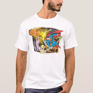 Superman dans l'espace t-shirt