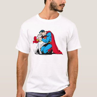 Superman en Krypto T Shirt