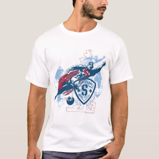 Superman et carte t-shirt