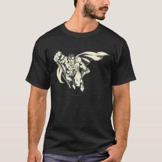 Superman pilotant la grunge t-shirt