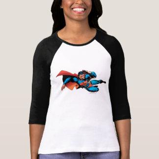 Superman pilotant le coup-de-pied t-shirt