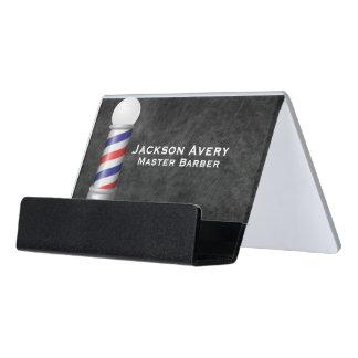 Support Carte De Visite Cuir de Polonais de coiffeur de salon de coiffure