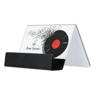 Support Carte De Visite Disque vinyle de jockey de disque du DJ de