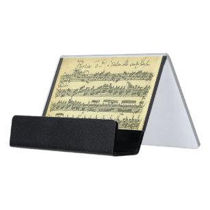 Support Carte De Visite Extraits Solos Manuscrit Musique Violon